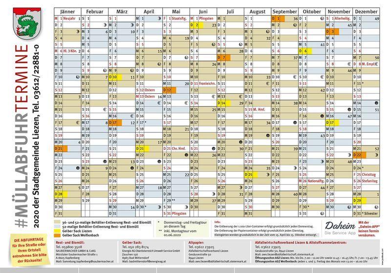 Abfuhrkalender 2020