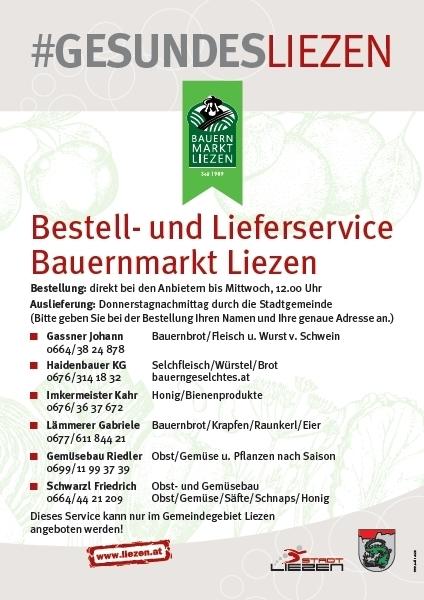 Bauernmarkt-Flyer