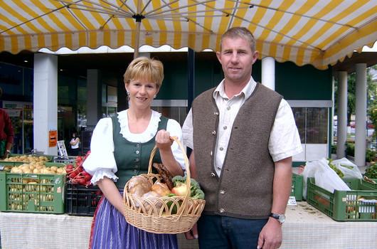 Bauernmarktfoto Obfrau