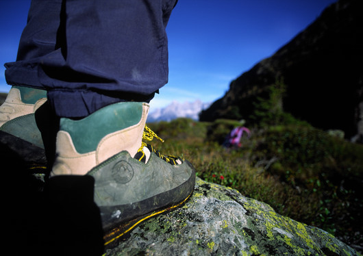 Wandern Bergschuh Stein